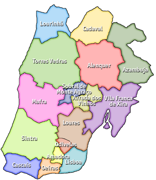 Portugal UPTODAN - Portugal map districts