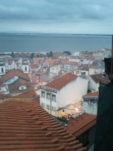 Alfama rooftops during Sardine Festival